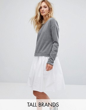 photo Sweater Dress by Noisy May Tall, color Medium Grey Melange - Image 1
