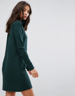 photo High Neck Jumper Dress by Noisy May Tall, color Green - Image 2