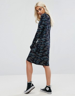 photo Camo Dress with Patches by Noisy May Petite, color Navy - Image 2