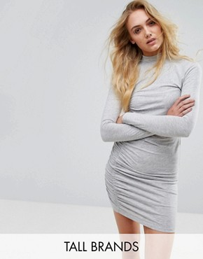 photo Bodycon Dress by Noisy May Tall, color Light Grey Melange - Image 1