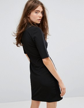 photo Dress with Zip Detail by Weekday, color Black - Image 2
