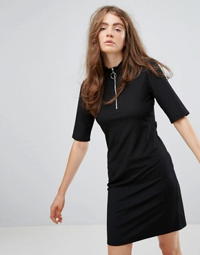 photo Dress with Zip Detail by Weekday, color Black - Image 1