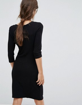 photo Bodycon Knitted Dress by Vila, color Black - Image 2