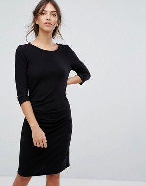 photo Bodycon Knitted Dress by Vila, color Black - Image 1