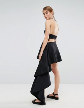 photo Press Collection Asymmetric Dress by Weekday, color Black - Image 2