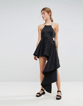 photo Press Collection Asymmetric Dress by Weekday, color Black - Image 1
