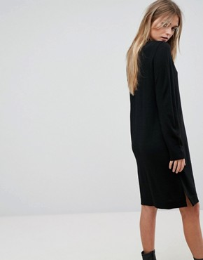 photo Knitted Dress by Selected, color Black - Image 2