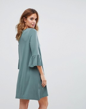 photo Shift Dress with Fluted Sleeve by Vero Moda, color Balsam - Image 2