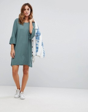 photo Shift Dress with Fluted Sleeve by Vero Moda, color Balsam - Image 4