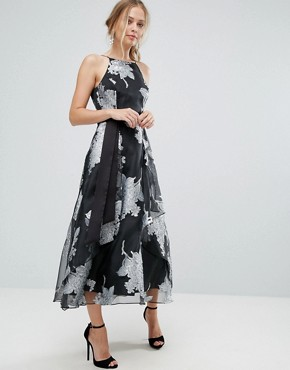 photo Floral Full Dress by Coast, color Multi - Image 1