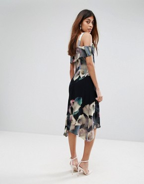 photo Floral Print Soft Shift Dress by Coast, color Multi - Image 2