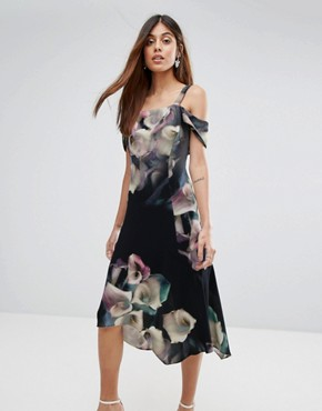 photo Floral Print Soft Shift Dress by Coast, color Multi - Image 1