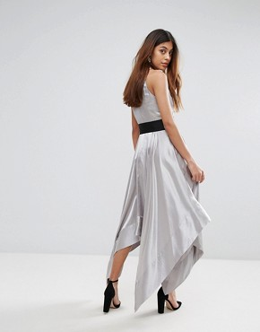 photo Elvie Halter Dress by Coast, color Silver - Image 2