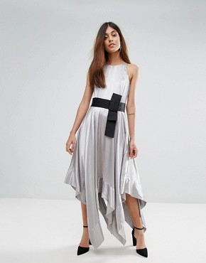 photo Elvie Halter Dress by Coast, color Silver - Image 1