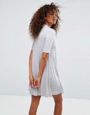 photo Knitted Swing Dress by Only, color Light Grey Melange - Image 2