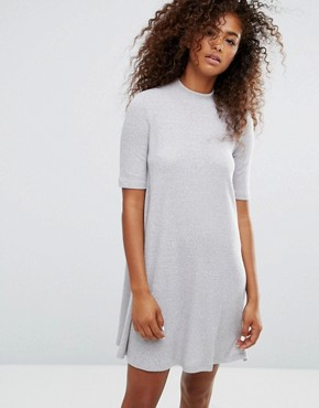 photo Knitted Swing Dress by Only, color Light Grey Melange - Image 1