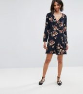 photo Wrap Front Skater Dress by Only, color Multi - Image 4