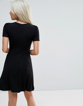 photo Mini Tea Dress by ASOS PETITE ULTIMATE, color Black - Image 2