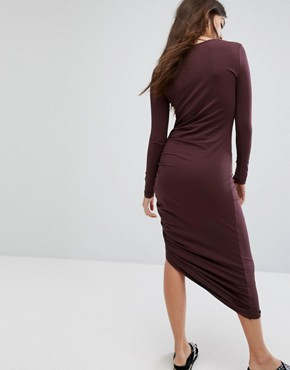 photo Ruched Detail Dress by Noisy May, color Brown - Image 2