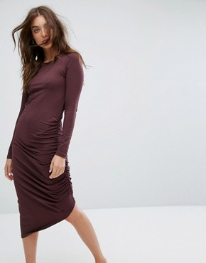 photo Ruched Detail Dress by Noisy May, color Brown - Image 1