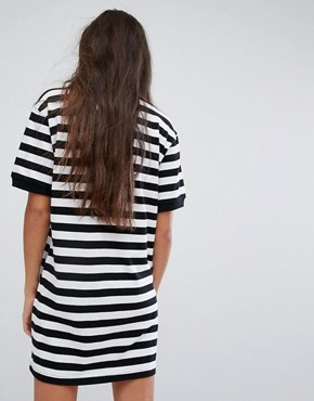 photo Polo T-Shirt Dress with Logo in Bold Stripe by Charms, color Black - Image 2