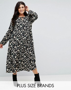photo Smock Dress in Vintage Dot Floral by Alice & You, color Black Dot Daisy - Image 1