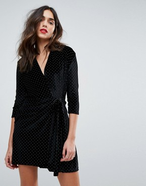 photo Tuexdo Mini Dress with Stud Detail by Outrageous Fortune, color Black/Gold - Image 1