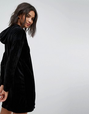 photo Velvet Sweater Dress by Stradivarius, color Black - Image 2