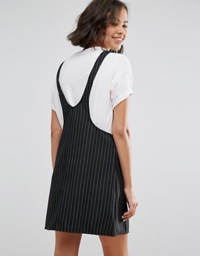 photo Pinstripe Dungaree Dress by Pull&Bear, color Multi - Image 2