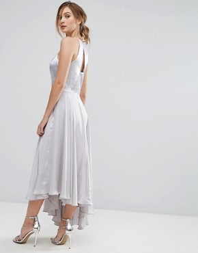 photo Becky Asymmetric Dress by Coast, color Silver - Image 2