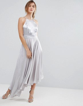 photo Becky Asymmetric Dress by Coast, color Silver - Image 1