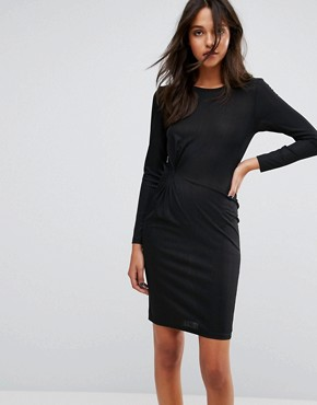photo Knot Front Jersey Dress by JDY, color Black - Image 1
