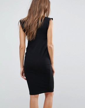 photo Frill Shoulder Dress by New Look Maternity, color Black - Image 2