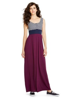photo Maxi Dress by Mossimo Supply Co., color Navy/White Stripe/Plum - Image 1