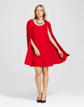photo Cape Dress by Alison Andrews, color Red - Image 1