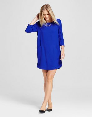 photo Front Pocket Shift Dress by Eclair, color Cobalt (Blue) - Image 1