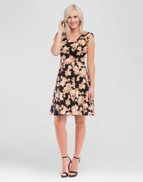 photo Maternity Floral Print Scoop Neck Dress by Expected by Lilac, color Black - Image 1