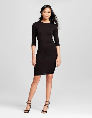 photo 3/4 Sleeve Bodycon Dress by Alison Andrews, color Black - Image 1