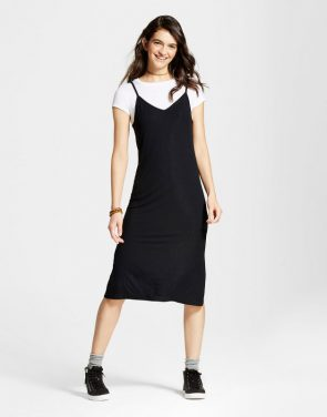 photo Knit Slip Dress with T-Shirt by Mossimo Supply Co., color Black - Image 1