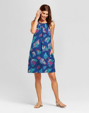 photo All Over Floral Printed Halterneck Dress with Braided Detail by Isani for Target, color Navy Combo - Image 1