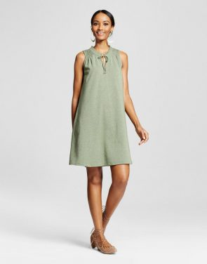 photo Knit Swing Dress by Merona, color Green Heather - Image 1