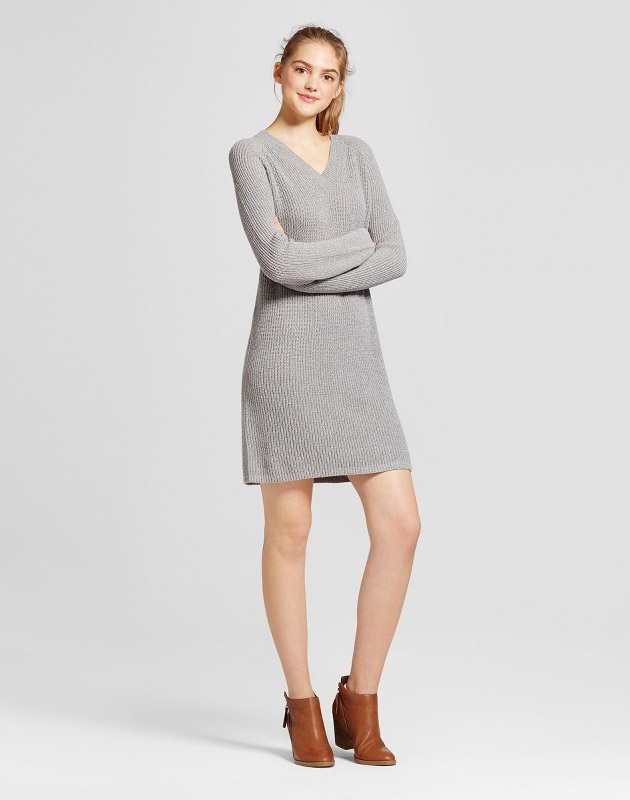 photo Shaker Stitch Dress by Mossimo Supply Co., color Grey - Image 1