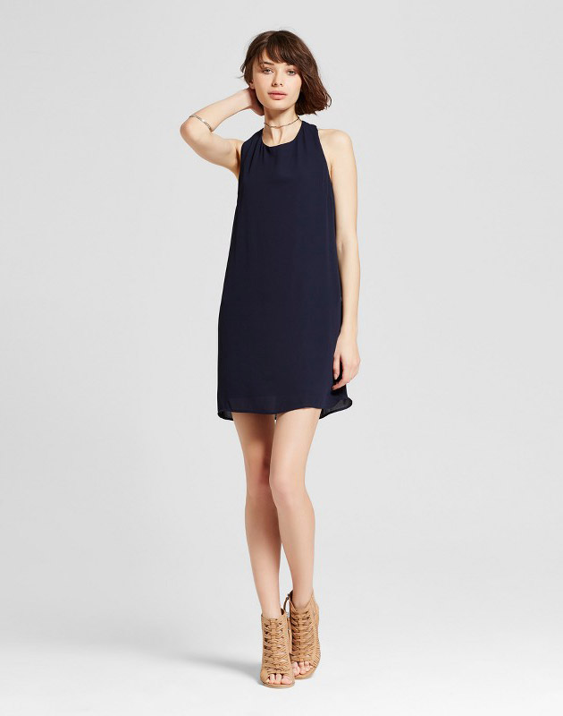 photo Sleeveless Swing Dress Navy by Eclair, color Blue - Image 1