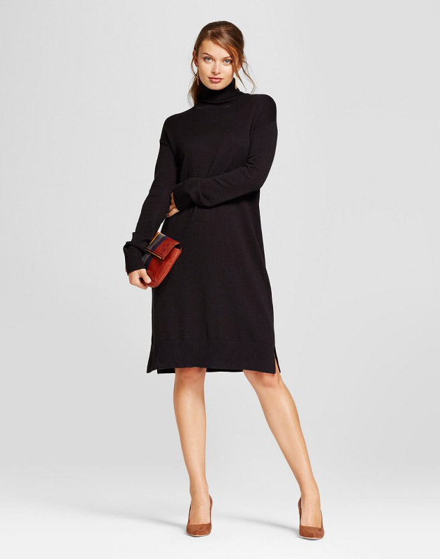 photo Turtleneck Sweater Dress by A New Day, color Black - Image 1