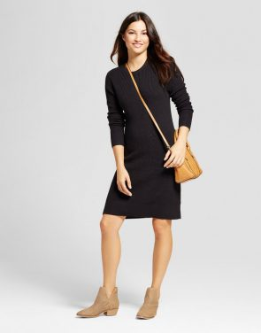 photo Textured Sweater Dress by A New Day, color Black - Image 1