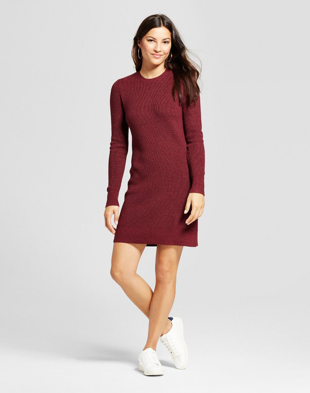 9a2c08bc0a0 Textured Sweater Dress by A New Day - Burgundy