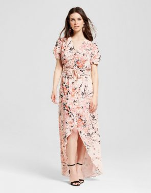photo Floral Wrap Maxi Dress Garden Floral by S&P by Standards and Practices, color Multi - Image 1
