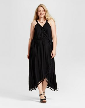 photo Plus Size Tassel Maxi Dress by Spenser Jeremy, color Black - Image 1