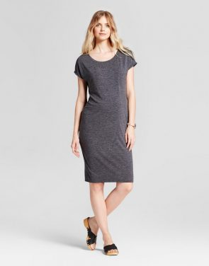 photo Maternity Easy Shift Dress by Isabel Maternity by Ingrid & Isabel, color Black - Image 1