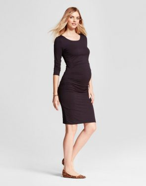 0b862aad507a6 photo Maternity 3/4 Sleeve Pleated Dress by Isabel Maternity by Ingrid &  Isabel,